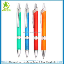 Newest promotion gift plastic lamy pen with metal ring