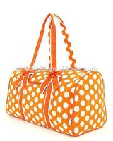 orange Quilted travel bags