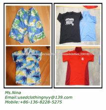 Grado A de ropa usada, ropa de segunda mano, grado A vestido de seda usados
