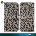 caja de la bolsa en línea leopardo de compras de cuero PU para iPhone6