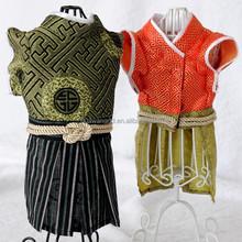 Roupa do cão do verão brilhante roupas traje samurai para cães