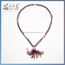 Hot Sales 925 Sterling Silver Jewelry Necklace Garnet