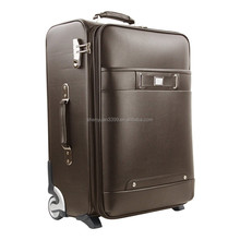 New arrival waterproof multifunctional personal leather travel bag with trolley