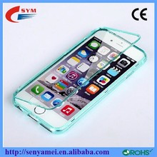 For iPhone 6 TPU Flip Cover Case,Clear Ultra Thin Case For iPhone 6 Plus