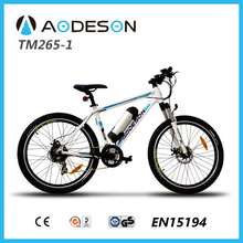 TOP e-cycle hot selling 350W mountain electric bicycleTM265-1 with motor lithium battery