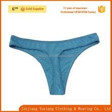 wholesale sexy blue100% cotton g-string panty women