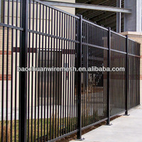 6'H Classic Montage ATF Fence Section, 3-Rail, 8'W, Black