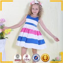 new model girl dress 2015 cotton clothing for girls casual stripe kids summer wear