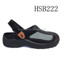 Europe standard adjustable strip slipper design safety clogs for driver