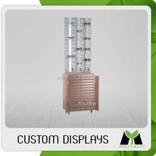 Design crazy selling wood folding display shelf for sunglass