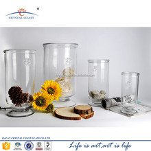 wide mouth wholesale clear glass pedestal bowl vases,flower water pot for plants