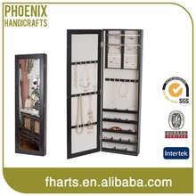 Wall Mount decorative Jewelry Case cabinet with mirror