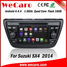 "Wecaro WC-SU7058 7"" Android 4.4.4 WIFI 3G touch screen car radio gps for suzuki sx4 2014 with dvd player bluetooth TV"