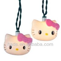 outdoor twinkling kitty cat string light
