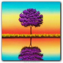 Purple Tree Painting/Landscapes Painting Wall Arts/Scenery Home Decoration Wall Arts