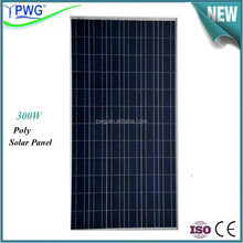 PWG IP65 Rated Junction Box A Grade 300w Solar Panel Factory Directly Price