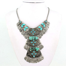 Fashion turquoise necklace silver jewelry party wholesale MLQZAN398