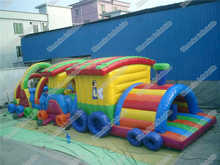 Inflatable Outdoor Train Obstacle