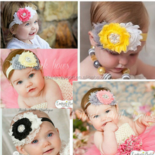 JPQ80 Fashion design flower baby girls toddlers Kids Infants Headband 2015