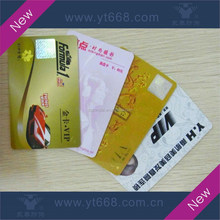 PVC card with heat transfer hologram hot stamping foil