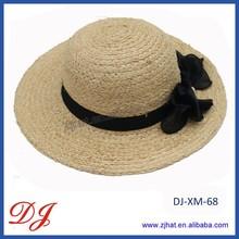 lady's summer handmade fedora straw hats