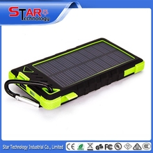 Mobile phone promotional gifts dual USB portable solar power bank 8000mah for macbook pro