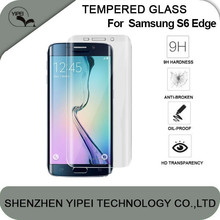 OEM ODM Premium 2.5D Transparent Full Covered Tempered Glass Screen Protector For Samsung Galaxy S6 Edge Protective Film Guard