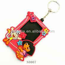 OEM/ODM POP pvc rubber key ring photo frame for memory