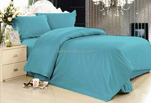 2015 New 100% polyester solid plain bed sheet set