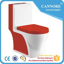 Fashion color sanitary ware Ceramic one piece toilet for bathroom