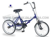 GW 7016 20 inch single speed cargo trike/folding mini tricycle