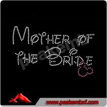 Shinning Wedding Rhinestones Mother of The Bride Hotfix for dress