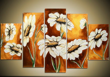 Newest modern flower oil painting on canvas for wall art decor,Manufactor brand hand-painted canvas flower oil painting