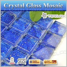 deep blue swimming pool mosaic tiles glass