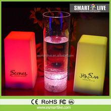 LED modern lighting plastic glowing ice cube /foam cube seat led garden led ball light