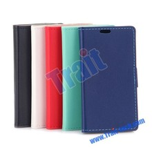 High quality Black Cass Pattern Wallet Stand Flip Leather Case for LG Spirit H440N