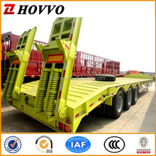 Tri-Axle Low Flatbed Semi Trailer for large or Non- dismantled objects