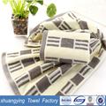 Proveedor de china de atención al cliente al 33*72cm hilados teñidos suave pequeñas toallas de mano