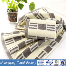 china supplier 33*72cm custome yarn dyed soft small hand towels