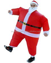 Inflável pai natal papai noel inflável traje terno de santa para o adulto para festa de natal