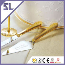 Gold Plating Cake Serving Set with Glitter Diamons Romantic Wedding Gifts