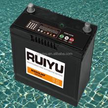 KOREA QUALITY 12V50ah lead acid sealed maintenance free auto battery used car battery for sale 55b24r