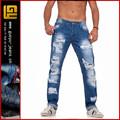 Destructor de los pantalones vaqueros, pantalones vaqueros rotos hombre pantalones rotos los hombres( gyy0190)