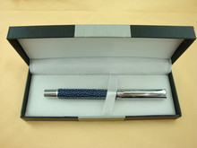self-inking stamp pen leather roller pen in Aluminum sheet gift box