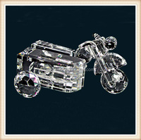 Crystal motorcycle model for birthday gift and decoration