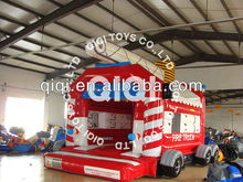 Competitive price fire truck inflatable bounce house