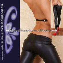Sexy Leather Look Skinny Jeans Wet Look Trousers Fashion Pants Lady Women Sexy Tights Stretch Leggings Girls Skinny Jeans