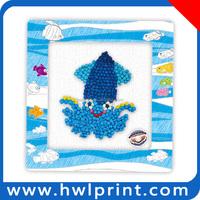 diy sticky paper craft/paper art/tissue paper toy
