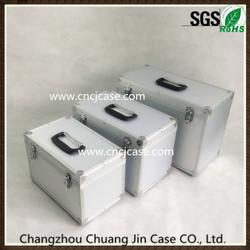 Three-piece set small silver dot fabric ABS aluminum welding case aluminum instrument case