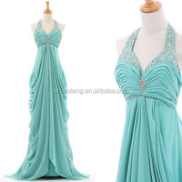 HT117 Elegant Halter turquoise blue beaded cheap plus size aliexpress wedding dresses under 100